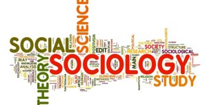 Sociology concept in word tag cloud