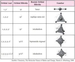 Berbagai Bentuk Molekul Pengertian Teori Domain Elektron Dan Teori Hibridisasi Terlengkap Pelajaran Sekolah Online