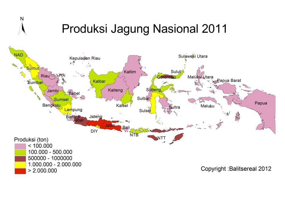 peta produksi