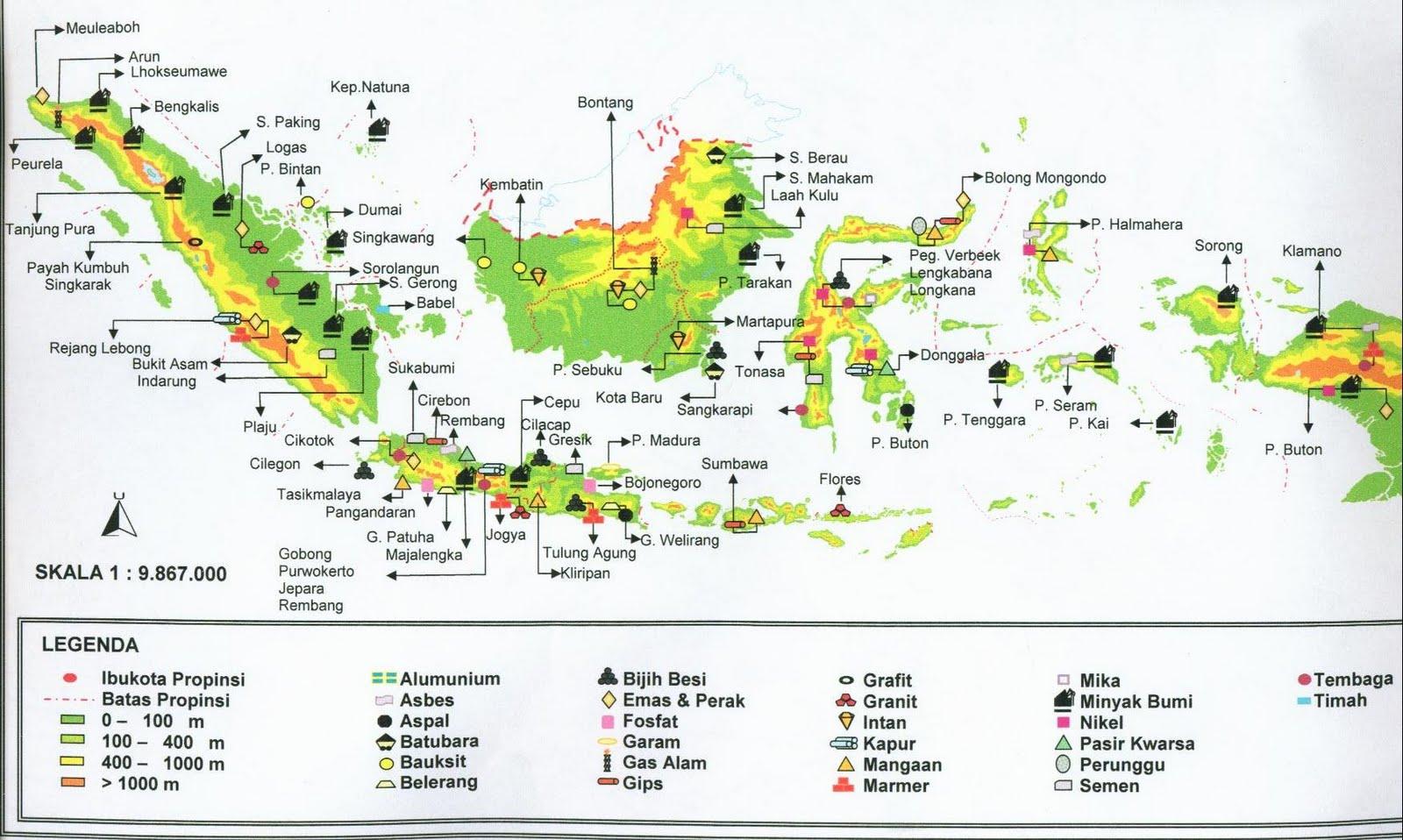 peta hasil tambang di indonesia