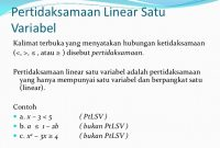 pertidaksamaan linear satu variabel