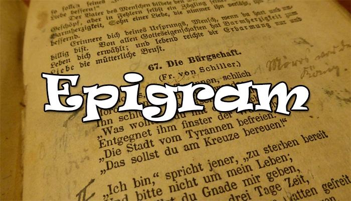 Pengertian Epigram Ciri Ciri Dan Contoh Puisi Epigram Lengkap